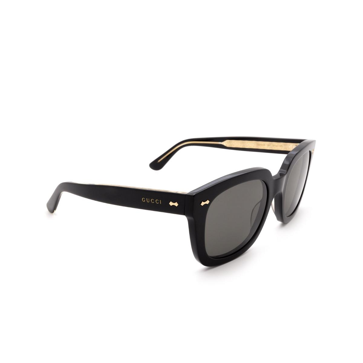 Gucci® Square Sunglasses: GG0912S color Black 001.