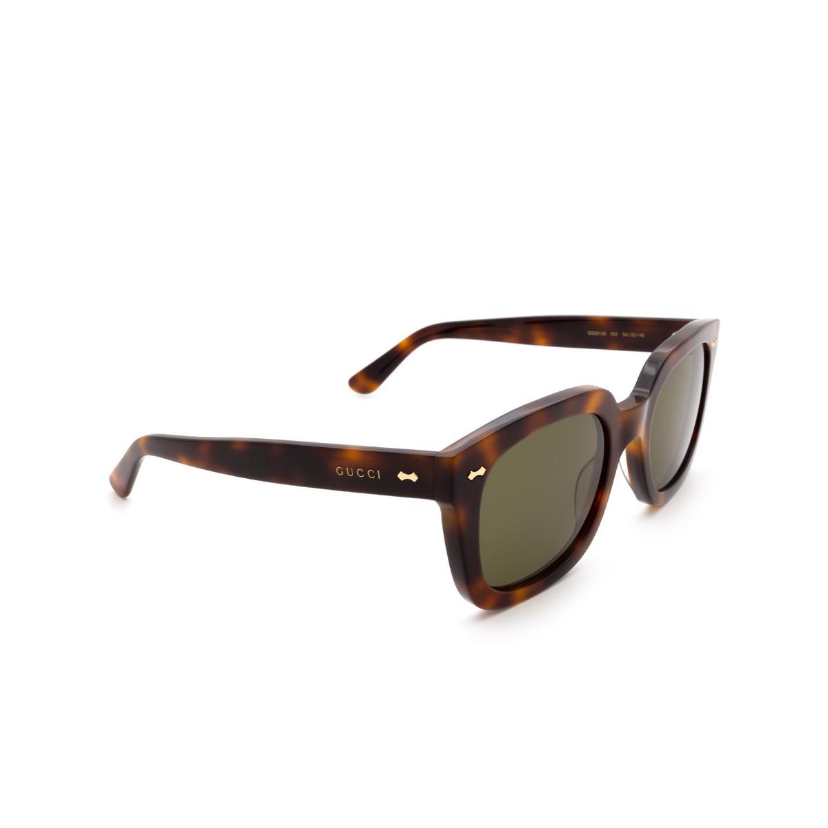 Gucci® Square Sunglasses: GG0912S color Havana 003 - 2/3.
