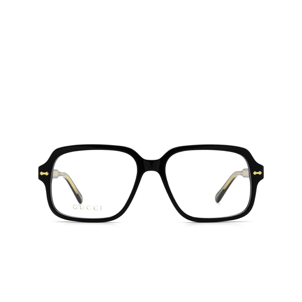 Gucci® Square Eyeglasses: GG0913O color Black 001 - front view.