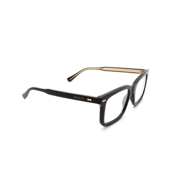 Gucci® Rectangle Eyeglasses: GG0914O color Black 001.