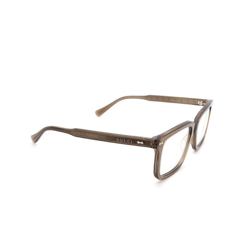 Gucci® Rectangle Eyeglasses: GG0914O color Brown 002.