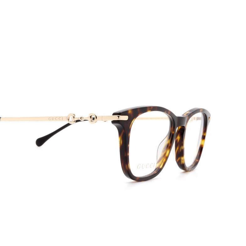 Gucci® Rectangle Eyeglasses: GG0919O color Dark Havana 002.