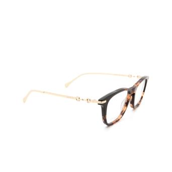 Gucci® Rectangle Eyeglasses: GG0919O color Havana 003.