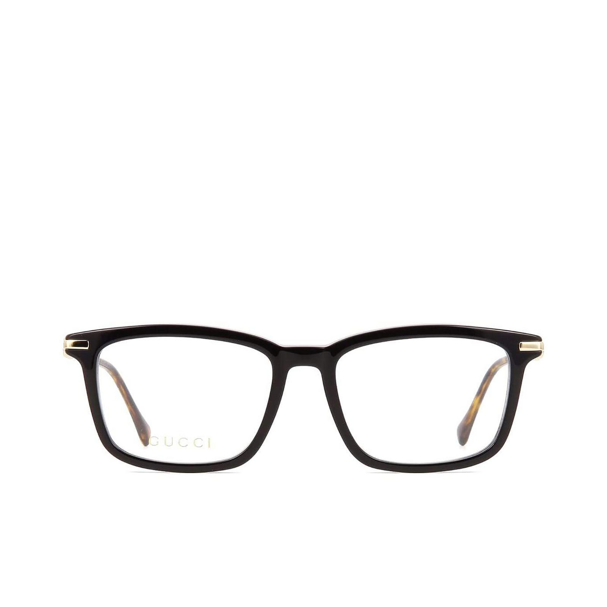 Gucci® Rectangle Eyeglasses: GG0920O color Black 001 - front view.