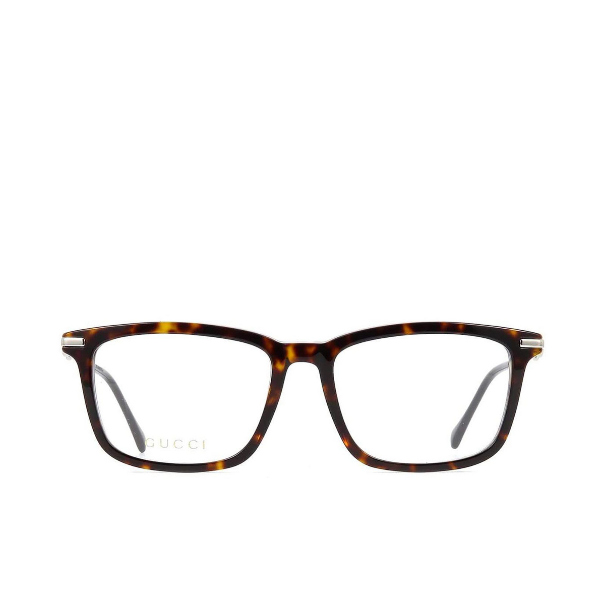 Gucci® Rectangle Eyeglasses: GG0920O color Dark Havana 005 - front view.