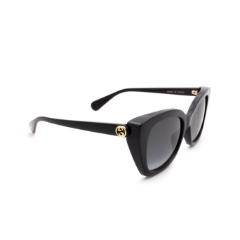 Gucci® Cat-eye Sunglasses: GG0921S color Black 001.