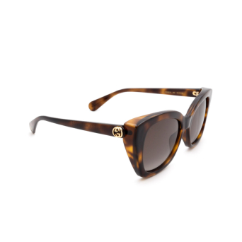 Gucci® Butterfly Sunglasses: GG0921S color Havana 002.