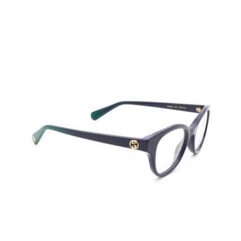 Gucci® Cat-eye Eyeglasses: GG0924O color Blue 004.