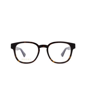 Gucci® Square Eyeglasses: GG0927O color Havana 002.