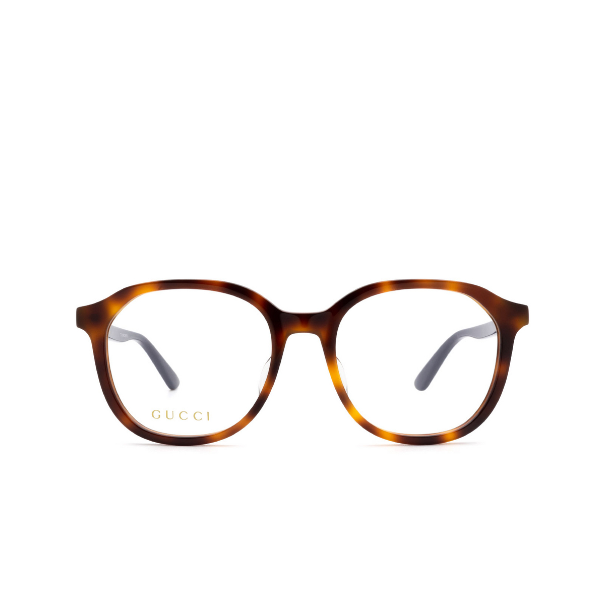 Gucci® Round Eyeglasses: GG0932OA color Havana 002 - front view.