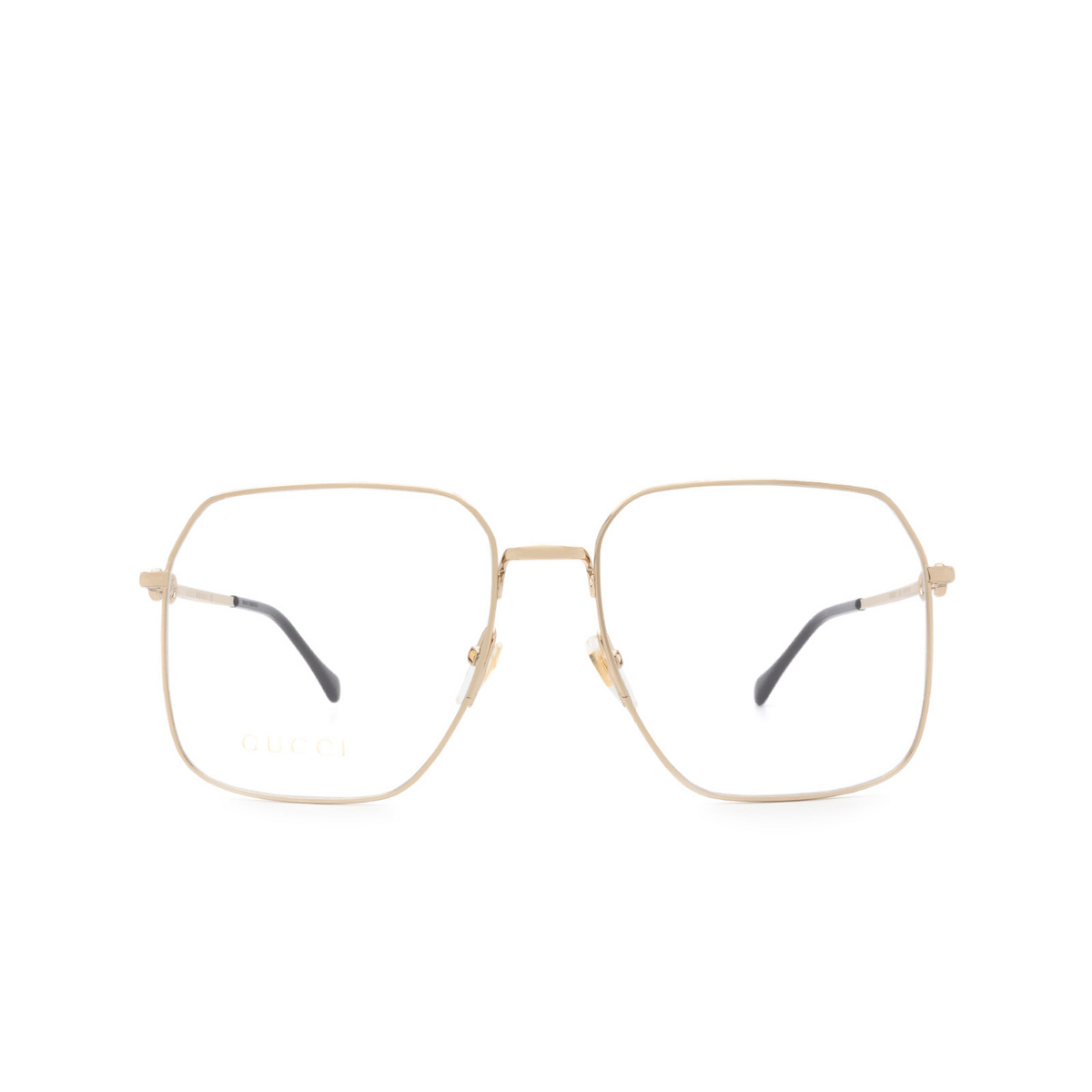 Gucci® Square Eyeglasses: GG0952O color Gold 002 - front view.