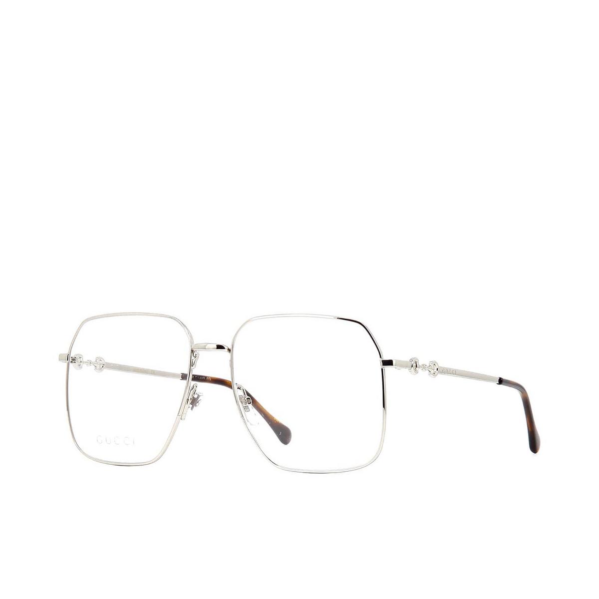 Gucci® Square Eyeglasses: GG0952O color Silver 003 - three-quarters view.