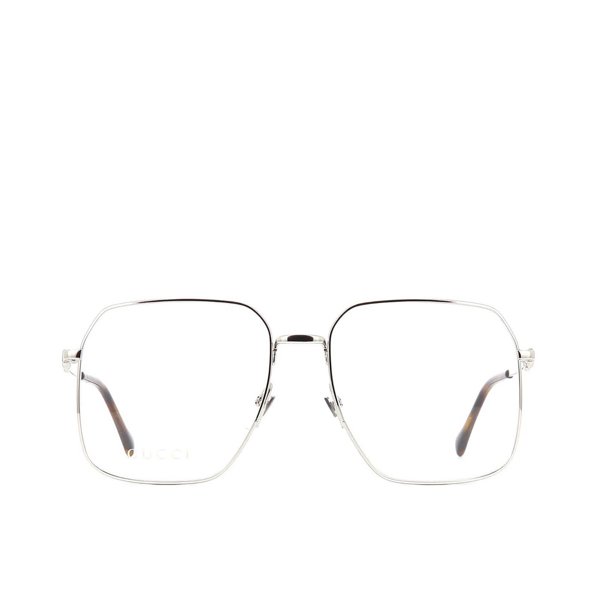 Gucci® Square Eyeglasses: GG0952O color Silver 003 - front view.