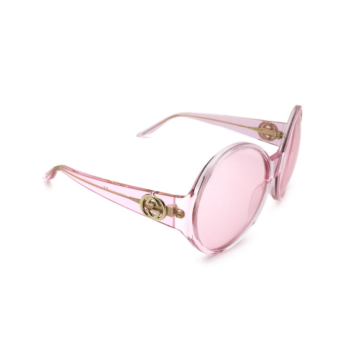 Gucci® Round Sunglasses: GG0954S color Pink 002.