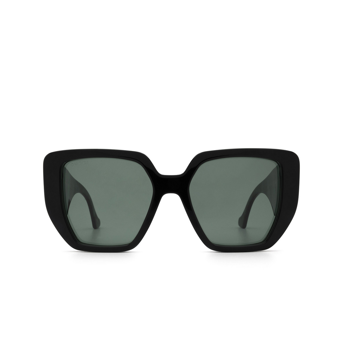 Gucci® Irregular Sunglasses: GG0956S color Black 001 - front view.