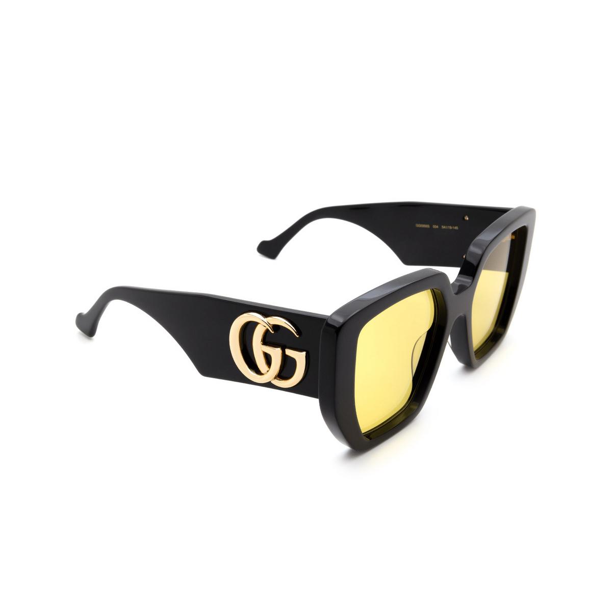 Gucci® Square Sunglasses: GG0956S color Black 004.