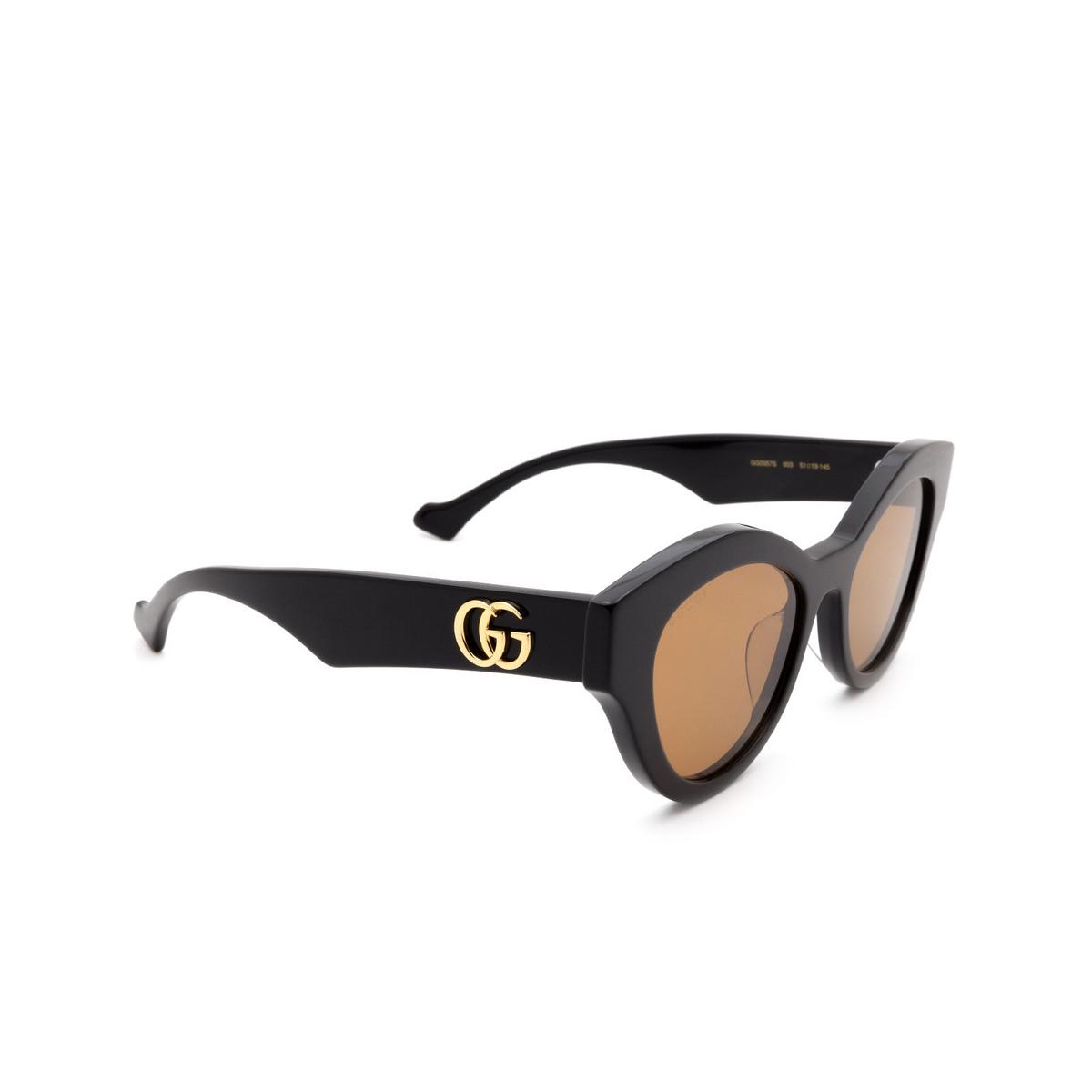 Gucci® Cat-eye Sunglasses: GG0957S color Black 003.