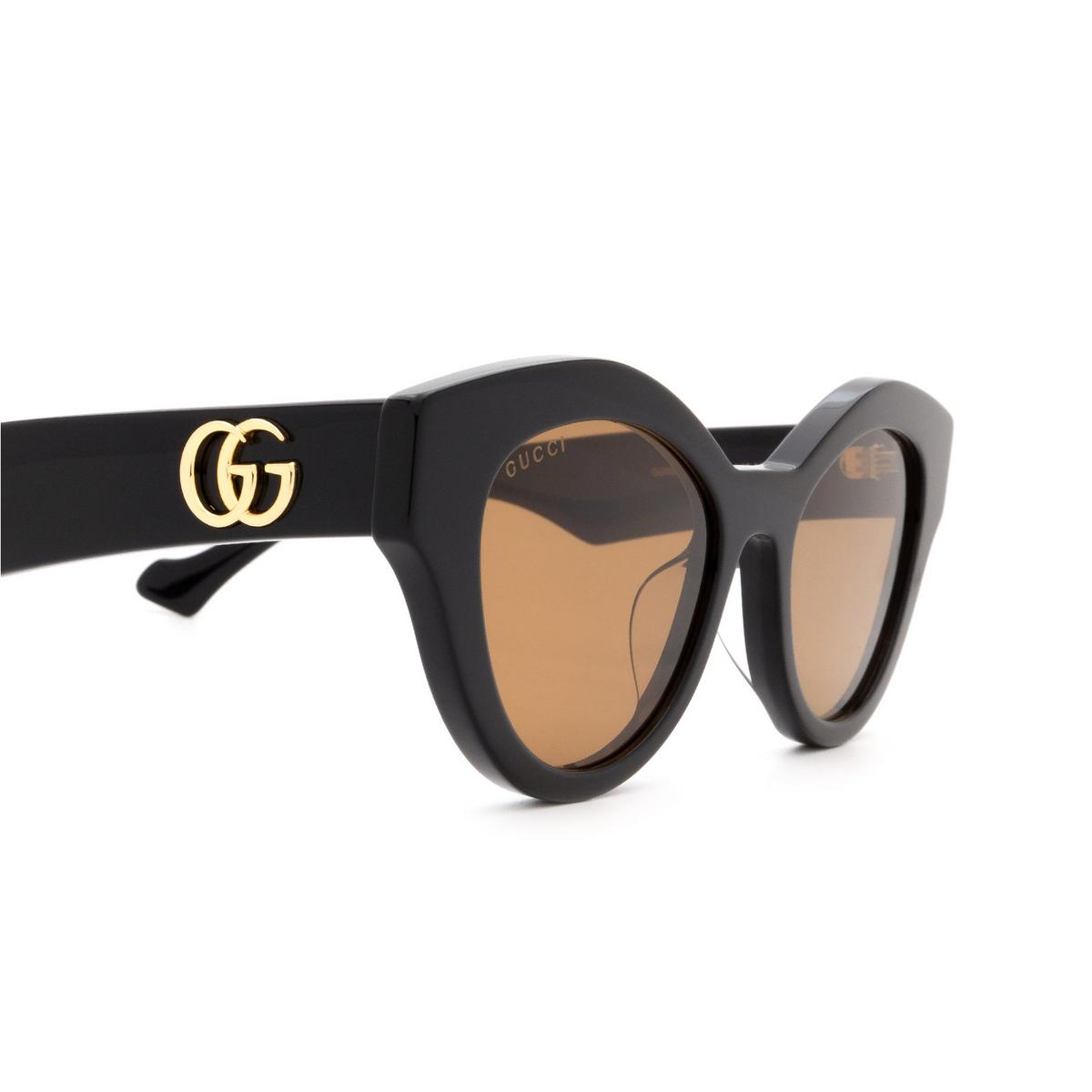 Gucci® Cat-eye Sunglasses: GG0957S color Black 003 - 3/3.