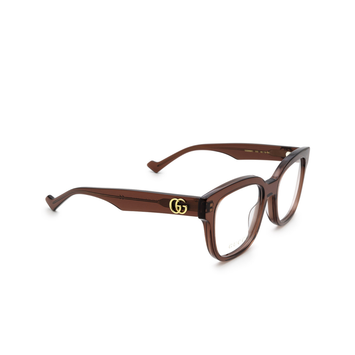 Gucci® Square Eyeglasses: GG0958O color Burgundy 003 - three-quarters view.