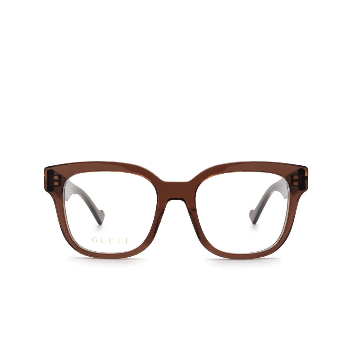 Gucci® Square Eyeglasses: GG0958O color Burgundy 003 - front view.
