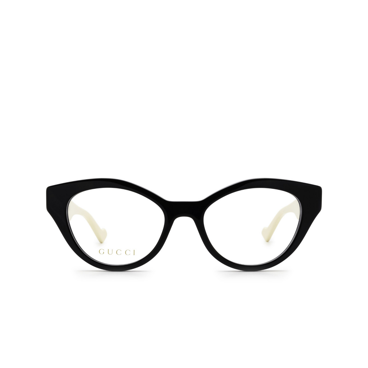 Gucci® Cat-eye Eyeglasses: GG0959O color Black & Ivory 002 - front view.