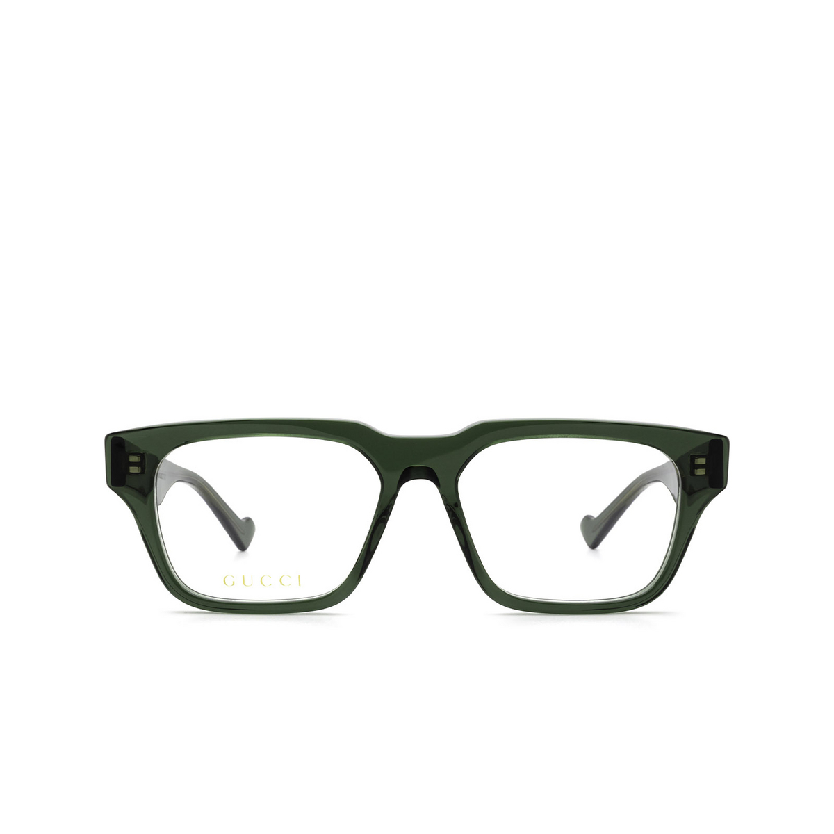 Gucci® Rectangle Eyeglasses: GG0963O color Green 003 - front view.