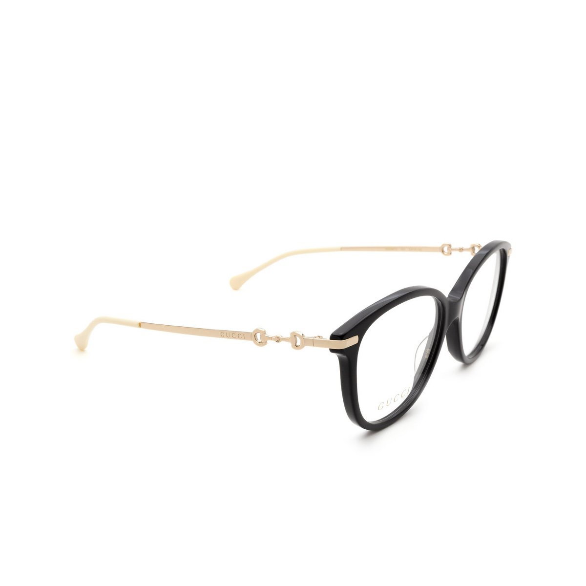 Gucci® Cat-eye Eyeglasses: GG0967O color Black 001.