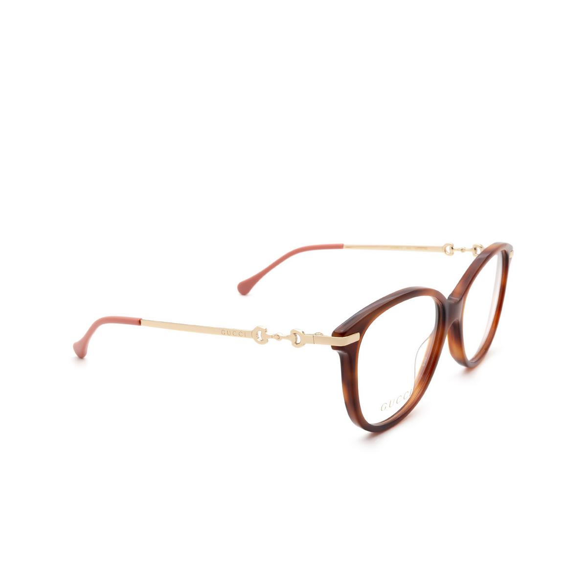 Gucci® Cat-eye Eyeglasses: GG0967O color Havana 002.