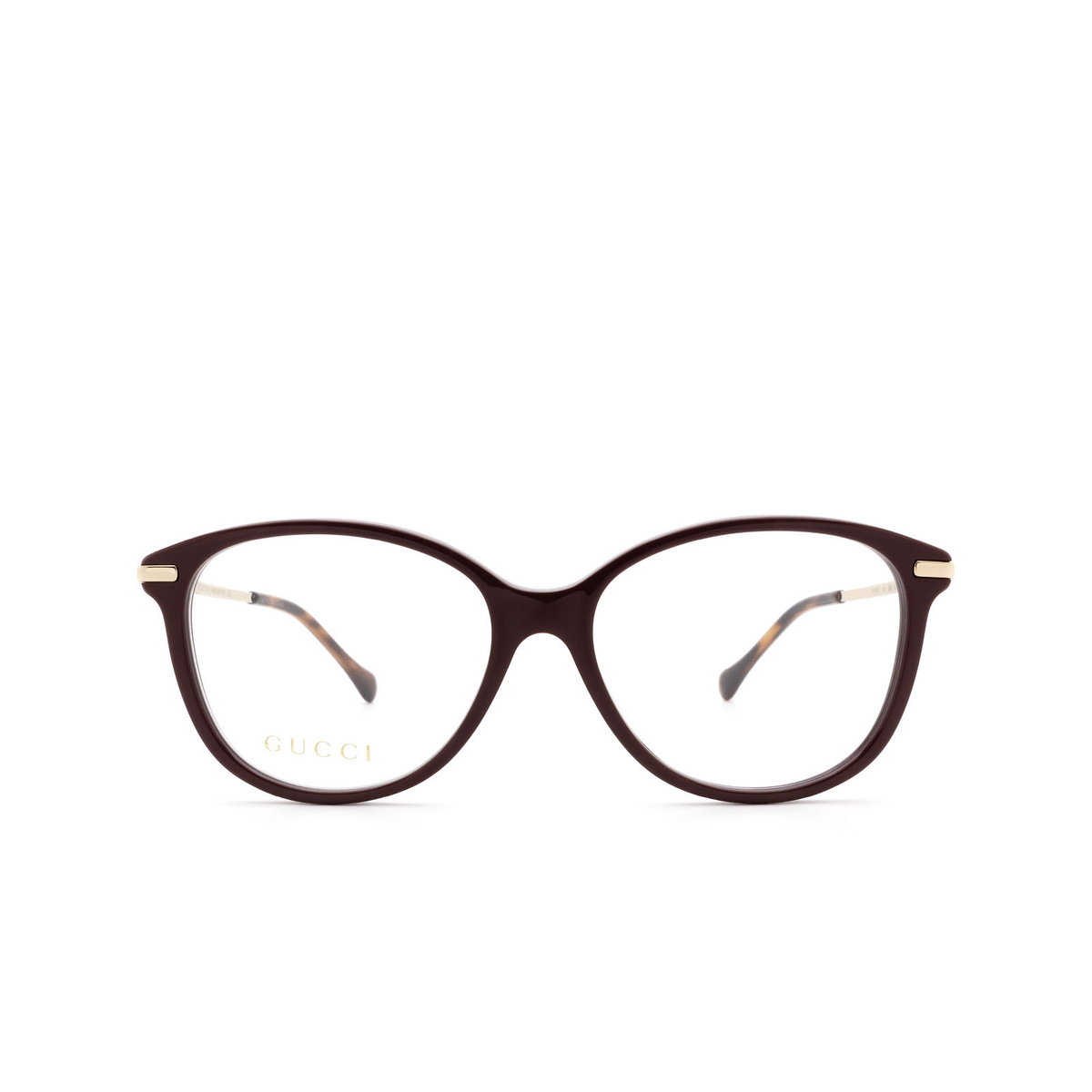 Gucci® Cat-eye Eyeglasses: GG0967O color Brown 003.