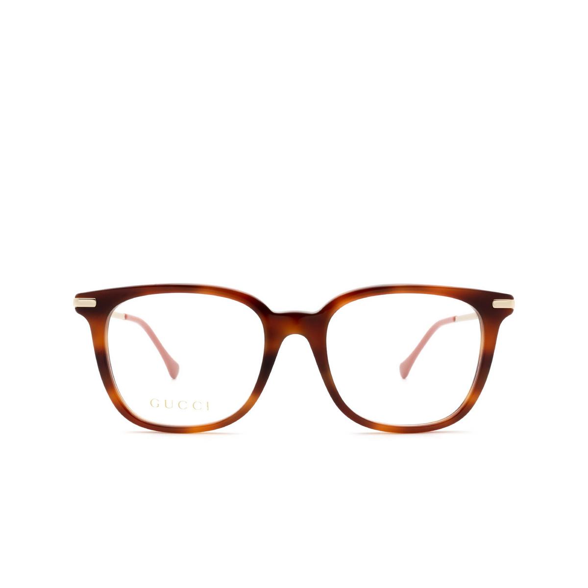 Gucci® Square Eyeglasses: GG0968O color Havana 002.