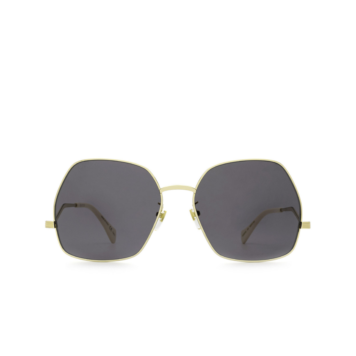 Gucci® Irregular Sunglasses: GG0972S color Gold 001 - front view.