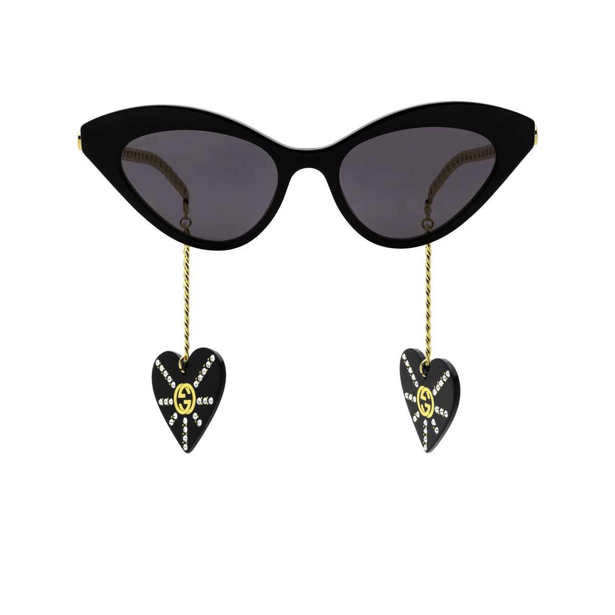 Gucci® Cat-eye Sunglasses: GG0978S color Black 004 - front view.