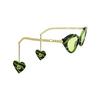 Gucci® Cat-eye Sunglasses: GG0978S color Green & Black 006 - product thumbnail 2/4.