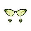 Gucci® Cat-eye Sunglasses: GG0978S color Green & Black 006 - product thumbnail 1/4.