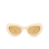 Gucci® Oval Sunglasses: GG0990S color White 001 - product thumbnail 1/3.