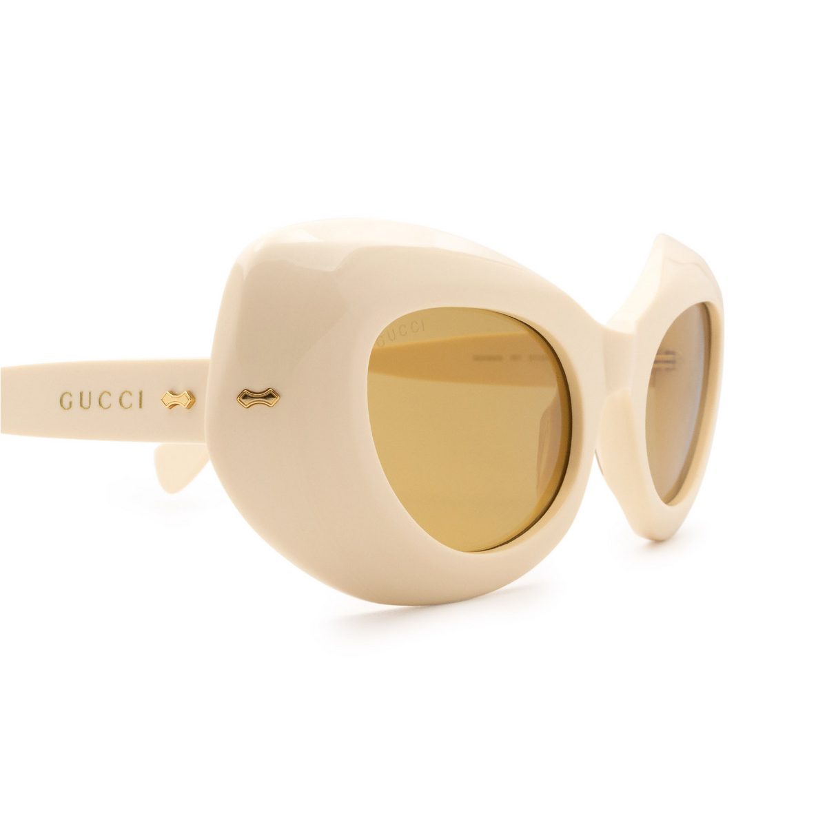 Gucci® Oval Sunglasses: GG0990S color White 001 - 3/3.