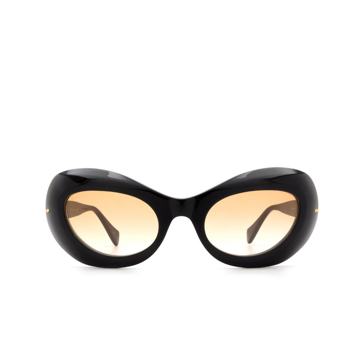 Gucci® Oval Sunglasses: GG0990S color Black 003 - front view.