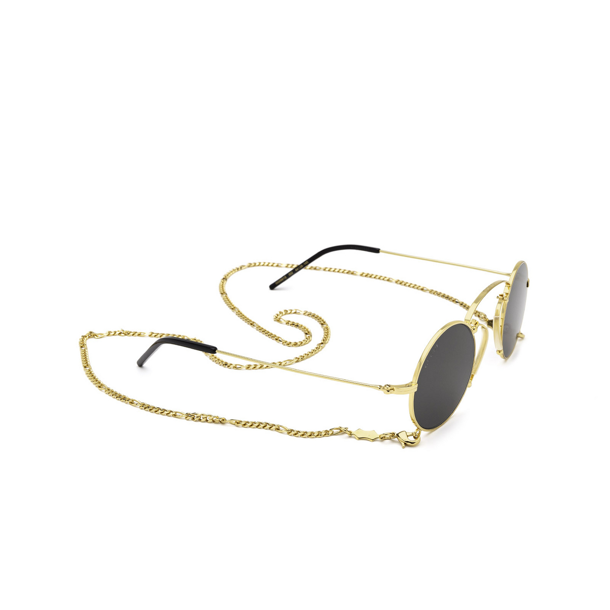 Gucci® Round Sunglasses: GG0991S color Gold 002 - 2/3.