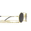 Gucci® Round Sunglasses: GG0991S color Gold 002 - product thumbnail 3/3.