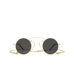 Gucci® Round Sunglasses: GG0991S color Gold 002.