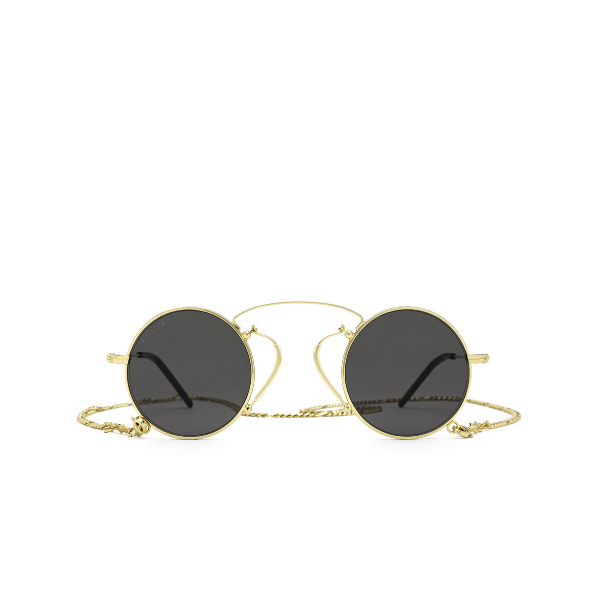 Gucci® Round Sunglasses: GG0991S color Gold 002 - 1/3.