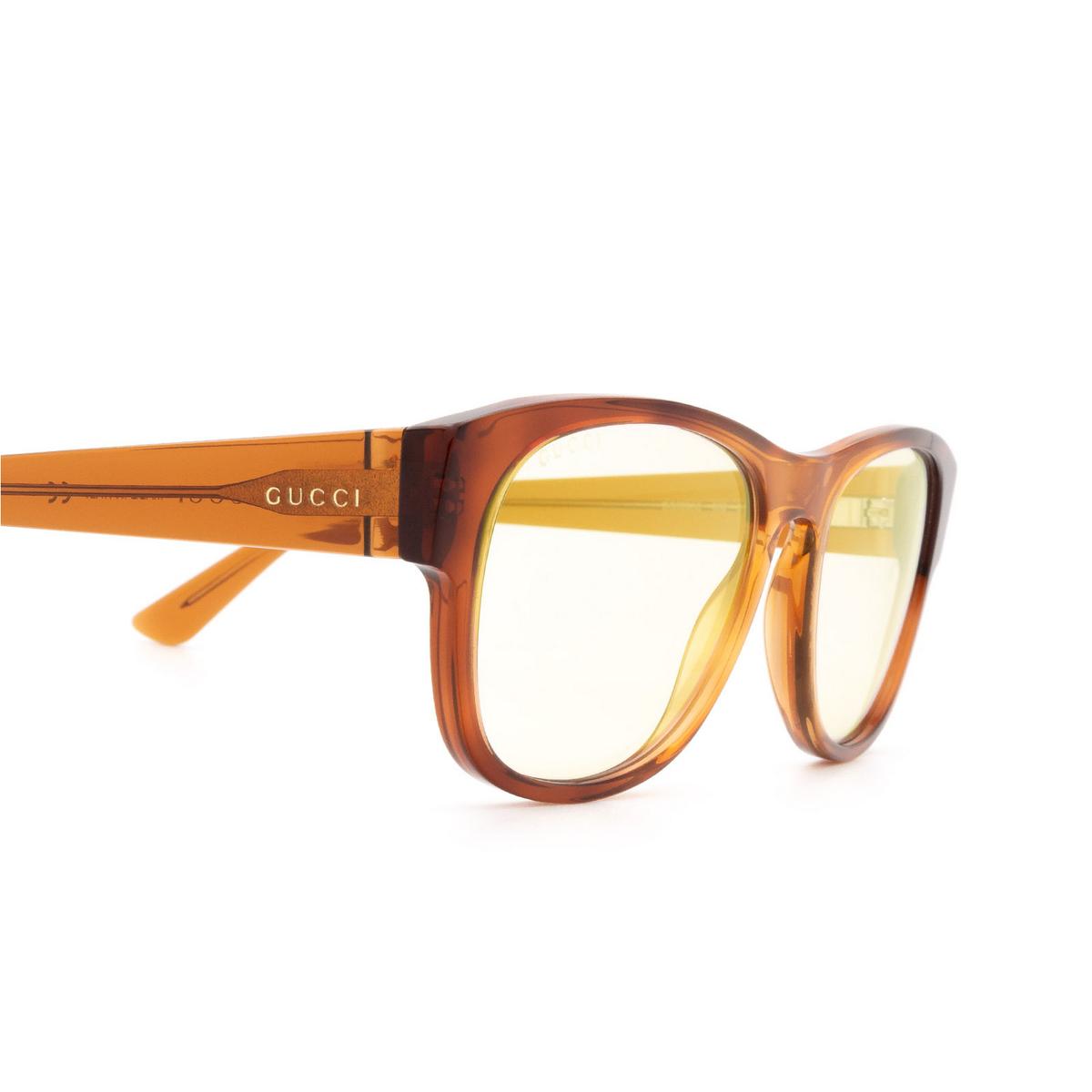 Gucci® Square Sunglasses: GG0996S color Havana 002 - 3/3.