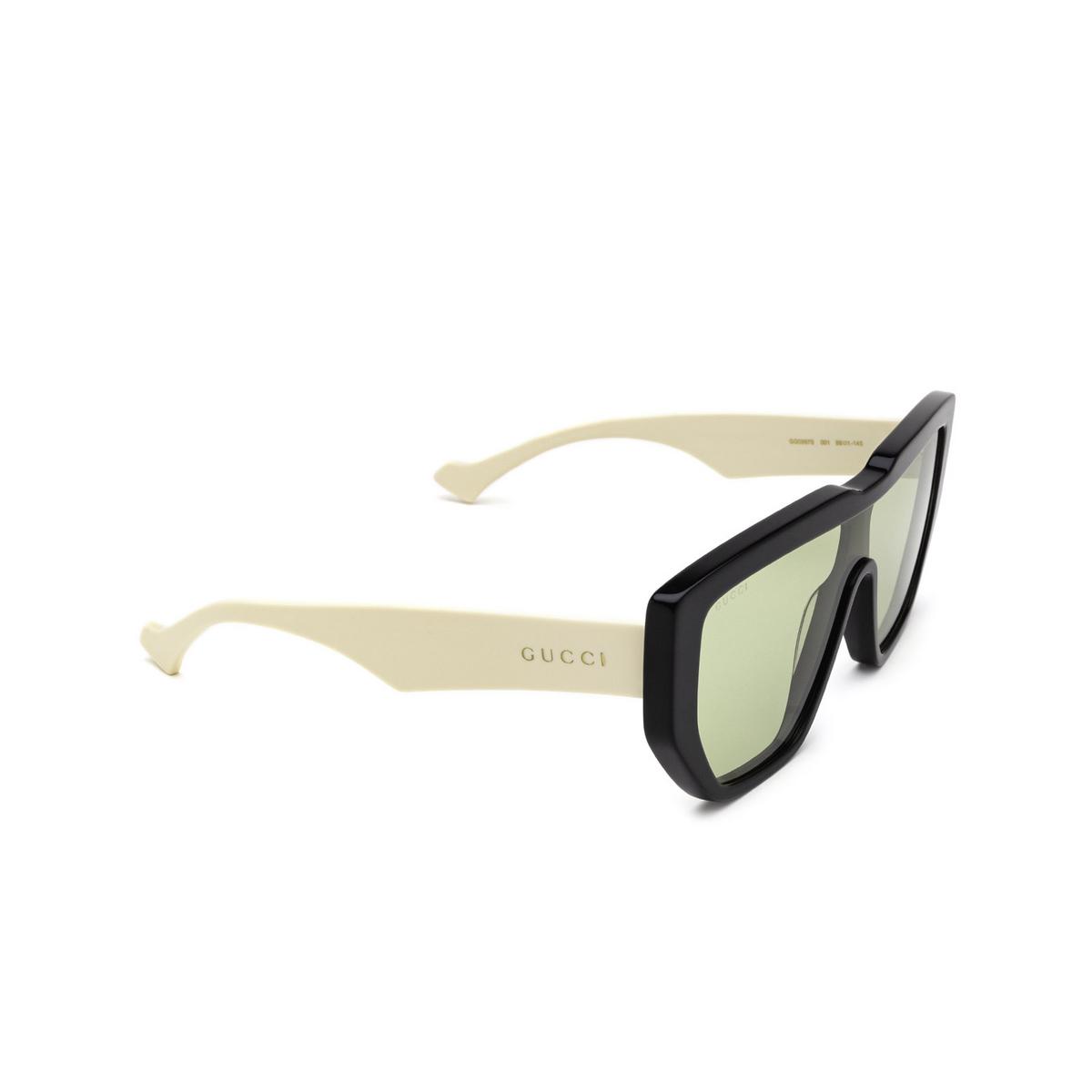 Gucci® Mask Sunglasses: GG0997S color Black 001 - three-quarters view.