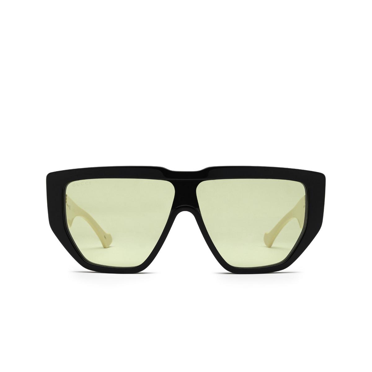 Gucci® Mask Sunglasses: GG0997S color Black 001 - front view.