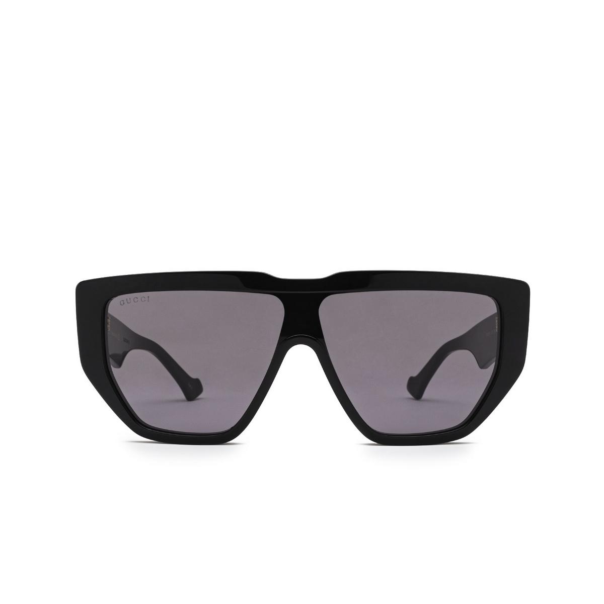 Gucci® Mask Sunglasses: GG0997S color Black 002 - front view.