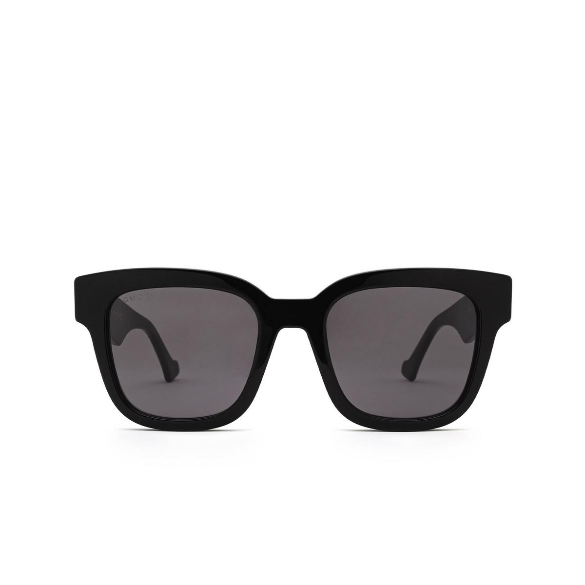 Gucci® Square Sunglasses: GG0998S color Black 001 - front view.