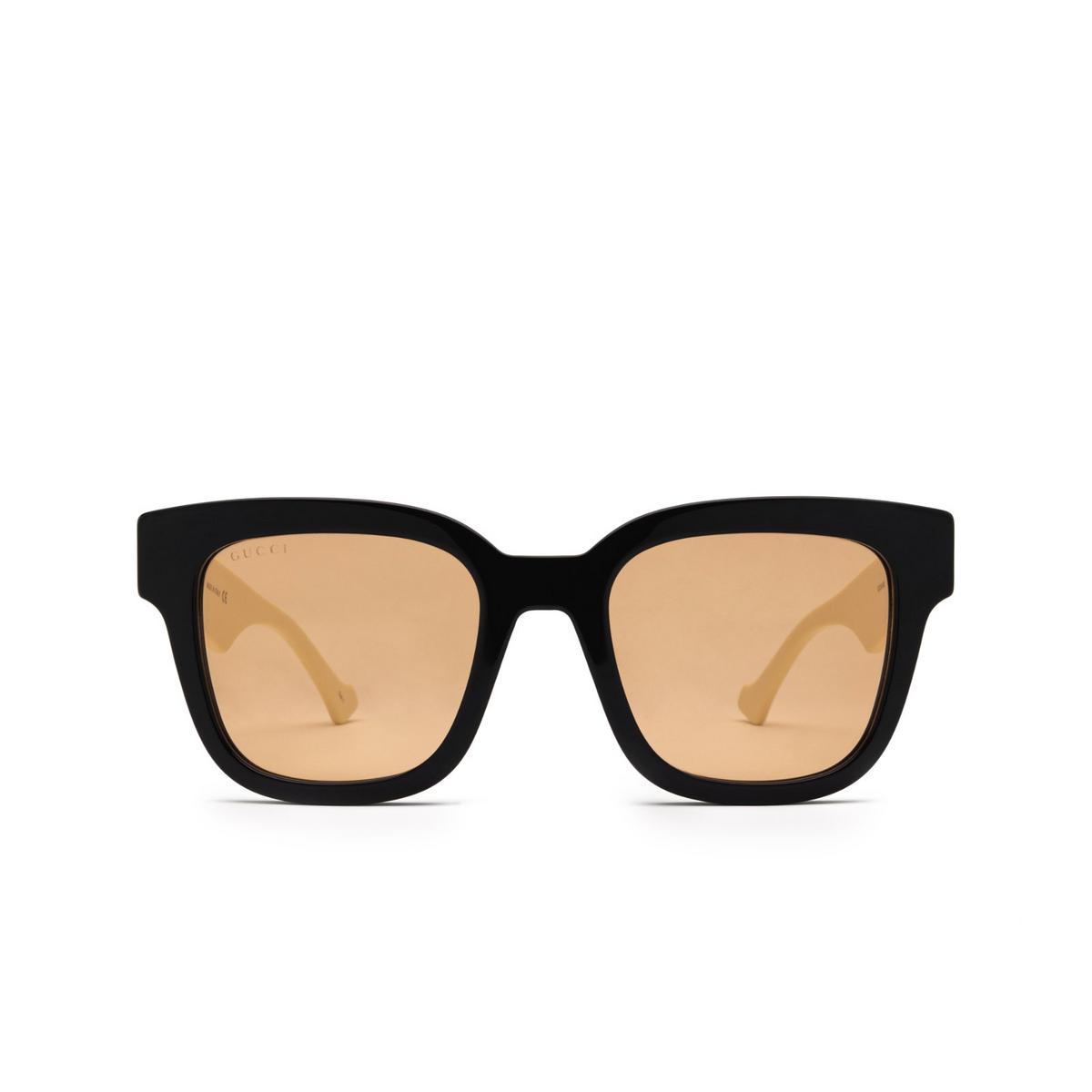 Gucci® Square Sunglasses: GG0998S color Black 002 - front view.