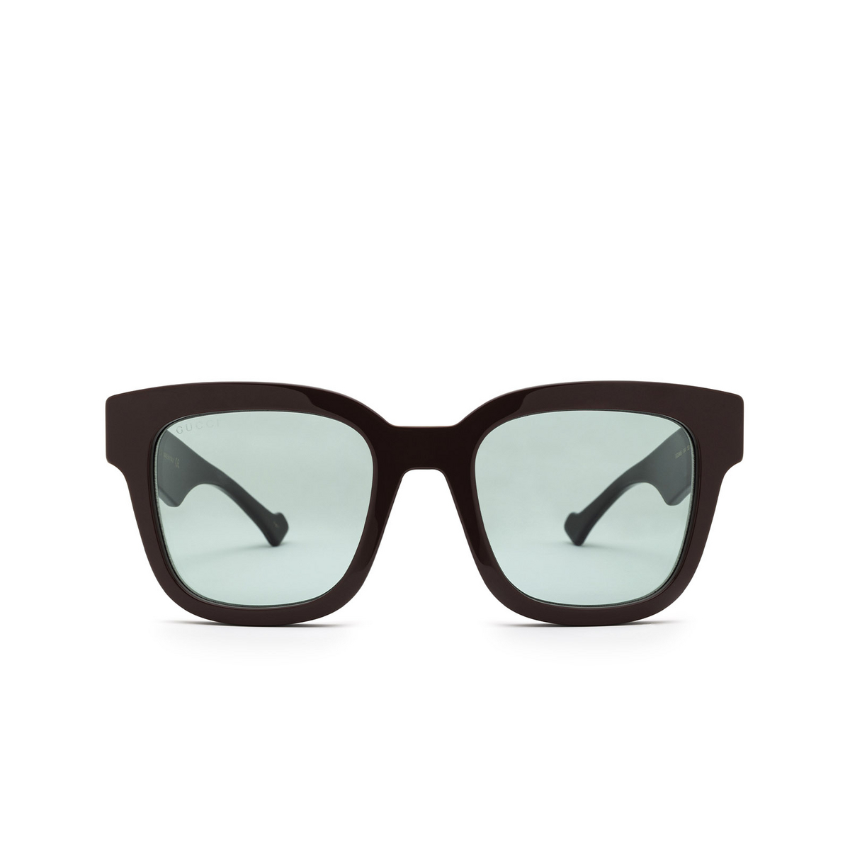 Gucci® Square Sunglasses: GG0998S color Brown 004 - front view.