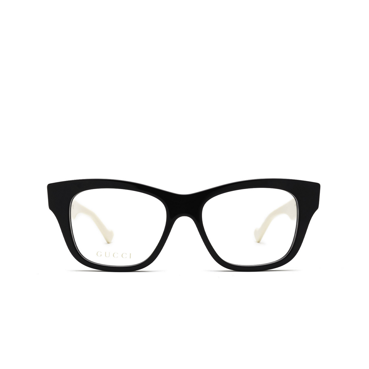 Gucci® Cat-eye Eyeglasses: GG0999O color Black 002 - front view.