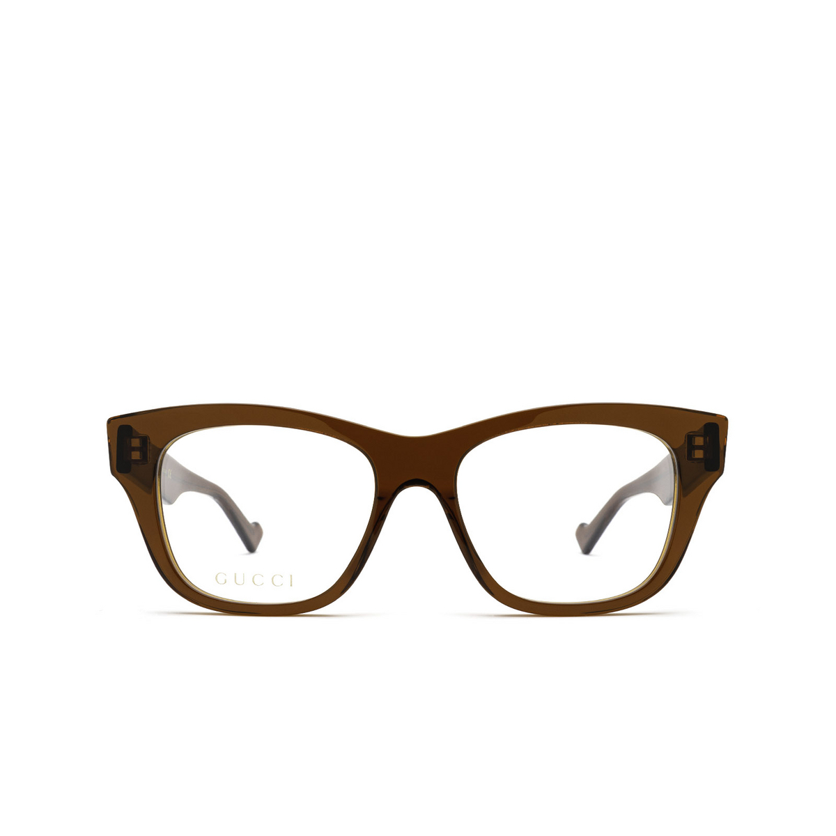 Gucci® Cat-eye Eyeglasses: GG0999O color Brown 003 - front view.